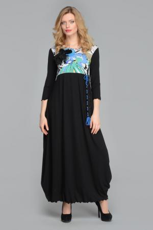 Платье Kata Binska. Цвет: черный, мульти