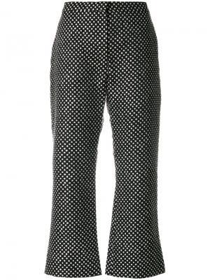 Укороченные брюки в горох Altuzarra. Цвет: чёрный