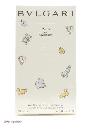 Нежный щадящий шампунь и гель для душа  bvlgari petits & mamans. Цвет: прозрачный