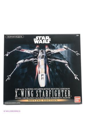 SW Сборная модель Истребитель X-Wing Fighter 1/48 со зв. и св. Bandai. Цвет: черный