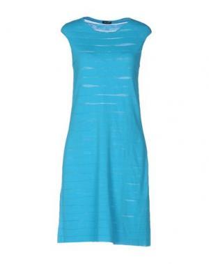 Короткое платье NEERA. Цвет: бирюзовый