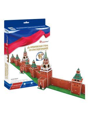 Игрушка Кремлевская стена со Спасской башней CubicFun. Цвет: синий, белый