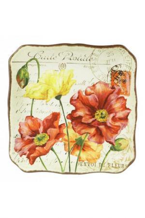 Набор из 4-х тарелок 27 см Certified International. Цвет: бежевый, розовый, красный