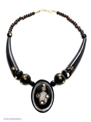 Ожерелье ГАНГ. Цвет: черный