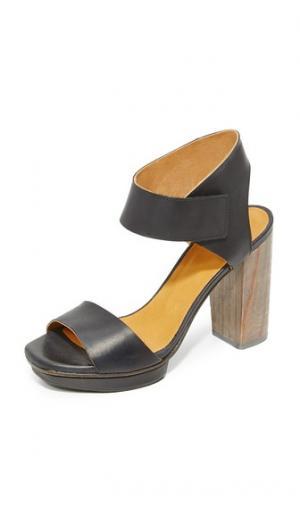 Сандалии на платформе длинноногая Coclico Shoes. Цвет: черный/гри