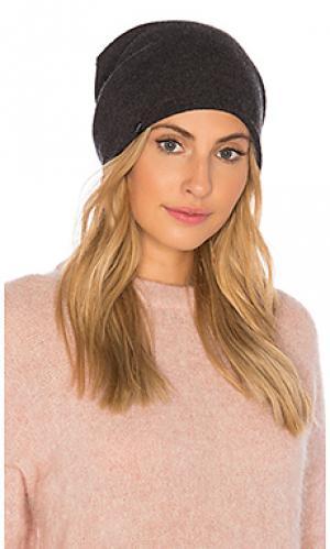 Двусторонняя шапка-бини vegan cashmere Plush. Цвет: серый