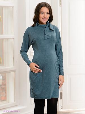 Платье UNIOSTAR. Цвет: серо-зеленый
