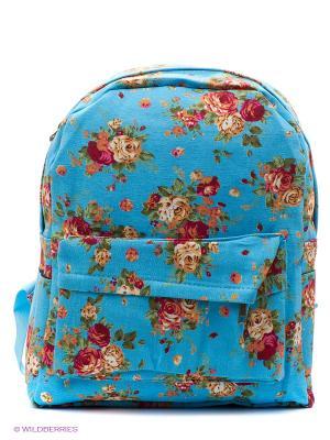 Рюкзак с цветочным принтом Flower Bouquets (синий) Kawaii Factory. Цвет: голубой, красный, оранжевый