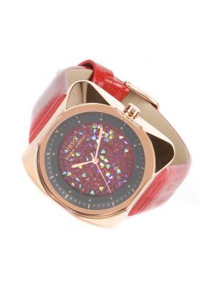 Часы на ремне IBSO. Цвет: красный, золотистый