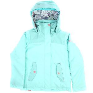 Куртка утепленная детская  Rx Jetty Aruba Blue Roxy. Цвет: светло-голубой