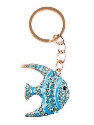 Брелок со стразами Рыба Aztek. Цвет: голубой