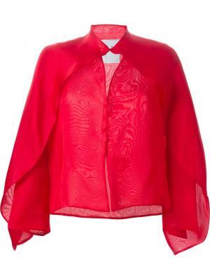 Блузка с накидкой Sybilla. Цвет: красный