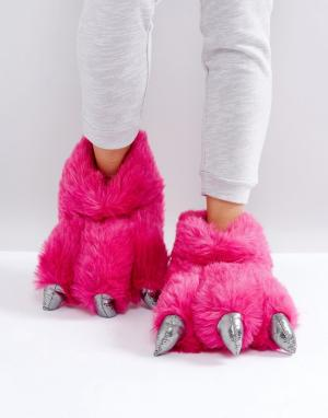 Loungeable Слиперы. Цвет: розовый