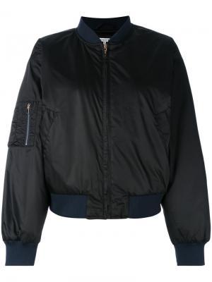 Куртка бомбер Ganni. Цвет: чёрный
