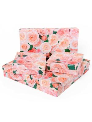 Подарочная коробка VELD-CO. Цвет: зеленый, розовый