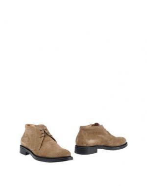 Полусапоги и высокие ботинки CUOIERIA. Цвет: хаки