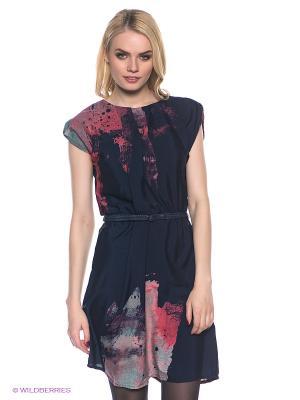 Платье GARCIA. Цвет: темно-синий