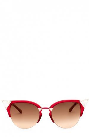 Солнцезащитные очки Fendi. Цвет: красный