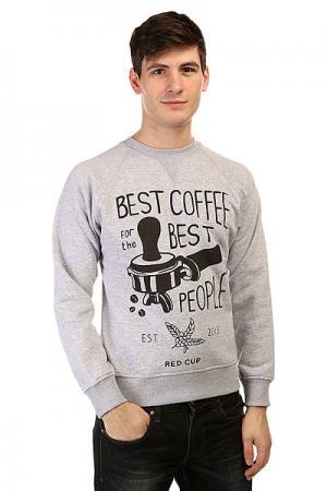Толстовка свитшот  Crewneck Coffee Grey Anteater. Цвет: серый