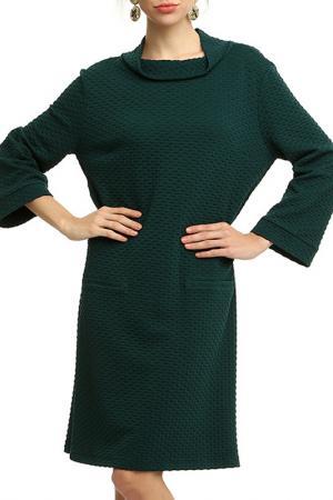 Платье Domena. Цвет: зеленый