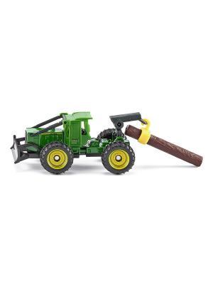 Трелевочный трактор John Deere SIKU. Цвет: зеленый, салатовый, светло-зеленый