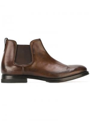 Классические ботинки Челси W.Gibbs. Цвет: коричневый