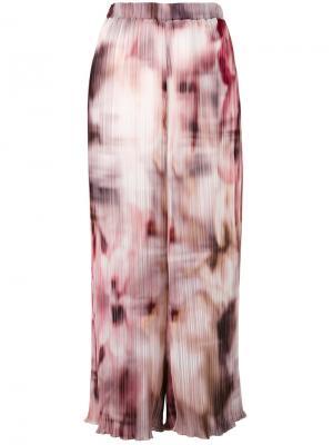 Укороченные брюки с размытым рисунком Ermanno Gallamini. Цвет: многоцветный