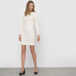 Платье с длинными рукавами FRENCH CONNECTION. Цвет: кремовый