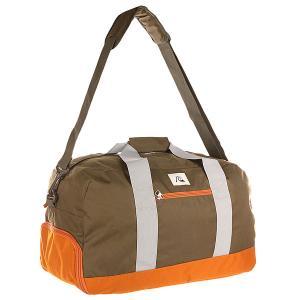 Сумка спортивная  Medium Shelter Lugg Forest Night Quiksilver. Цвет: зеленый,оранжевый