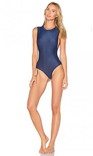Слитный купальник из сетчатой ткани cloud9 Acacia Swimwear. Цвет: синий