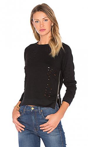 Рваный свитер great jones Central Park West. Цвет: черный