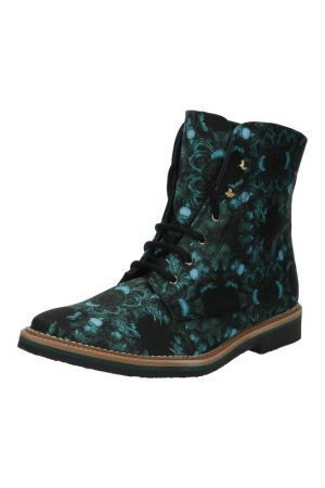 Ботинки MIISTA. Цвет: зеленый, принт