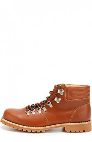 Кожаные ботинки Brugge на шнуровке Affex. Цвет: коричневый