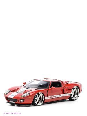 Модель машины 2005 Ford GT- Andrea Racing V Jada. Цвет: красный