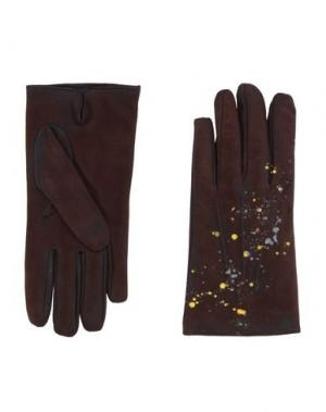 Перчатки FINGERS Venezia. Цвет: темно-коричневый