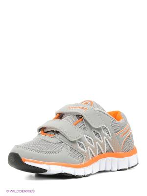 Кроссовки Flamingo. Цвет: серый, оранжевый