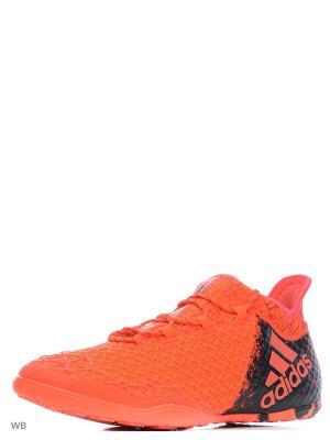 Футбольные бутсы (для зала) муж. X 16.1 Court Adidas. Цвет: оранжевый