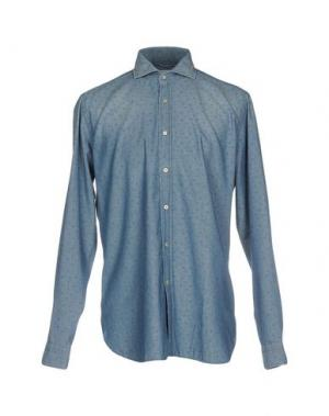 Pубашка GUGLIELMINOTTI. Цвет: синий