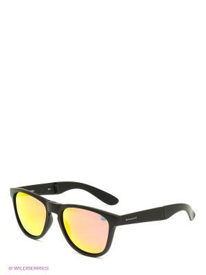 Солнцезащитные очки Polaroid. Цвет: черный, желтый