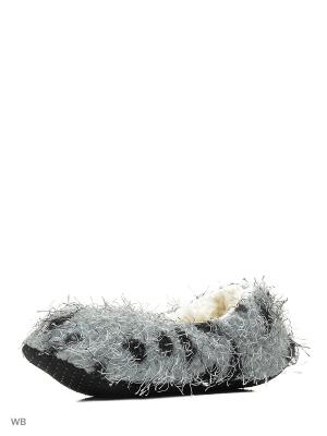 Носки-тапочки HOBBY LINE. Цвет: серый
