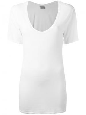 Базовая футболка Laneus. Цвет: белый