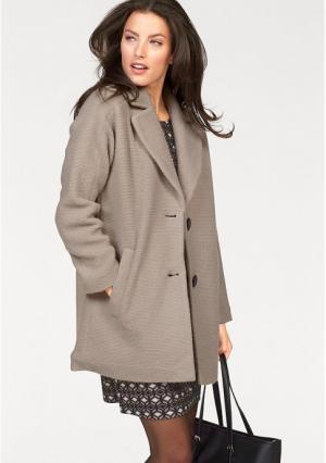 Пальто VIVANCE. Цвет: серо-коричневый