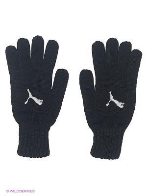 Перчатки Fundamentals Knit Gloves Puma. Цвет: черный, белый