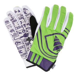 Перчатки сноубордические  Flasher Green Picture Organic. Цвет: зеленый