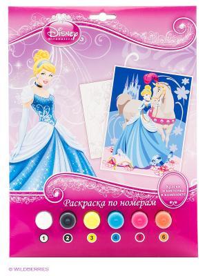 Набор для творчества  Disney принцессы раскраска по номерам Multiart. Цвет: розовый
