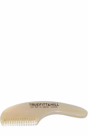 Мужская расческа для усов и бороды Truefitt&Hill. Цвет: бесцветный