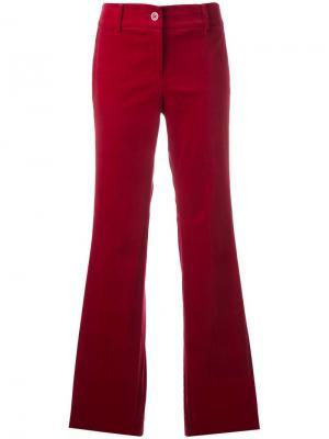 Расклешенные брюки с полосками по бокам Michael Kors. Цвет: красный
