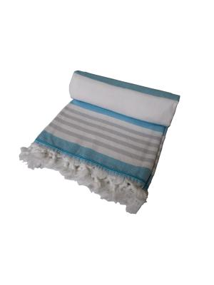 Полотенце СПА TOALLA. Цвет: голубой