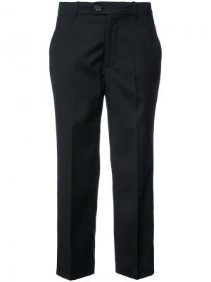 Укороченные брюки с лампасами Adaptation. Цвет: чёрный