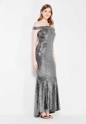 Платье Goddiva. Цвет: серебряный